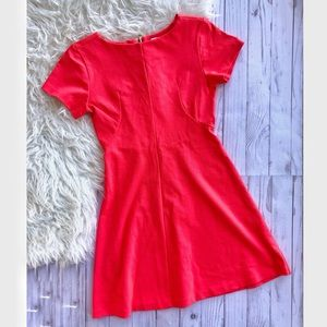 Amanda Uprichard short sleeve coral flare dress